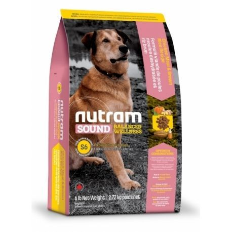 картинка Nutram s6 Sound Balanced Wallness Aduit Dog 13,6кг