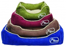 картинка 408,98 ЛЕЖАНКА Textile bed for dogs with pillow-oval 75см