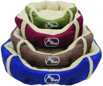 картинка 408,92 ЛЕЖАНКА Textile bed for dogs with pillow-oval 57 см